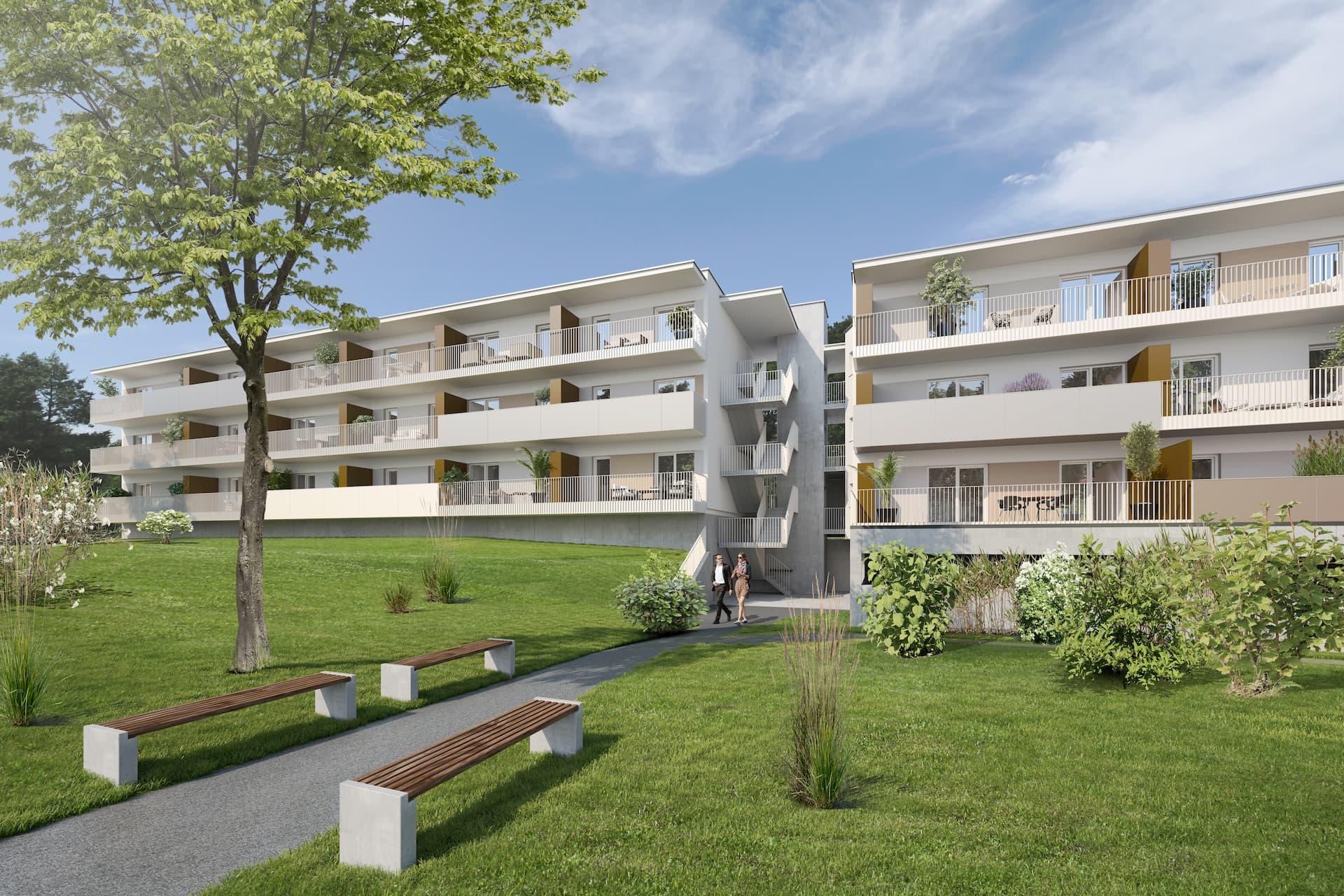 Aussenansicht Bauherrenmodell IFA AG in Graz