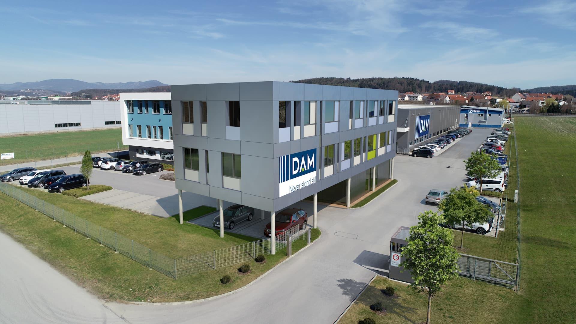 Außenansicht Bürozubau Firma DAM