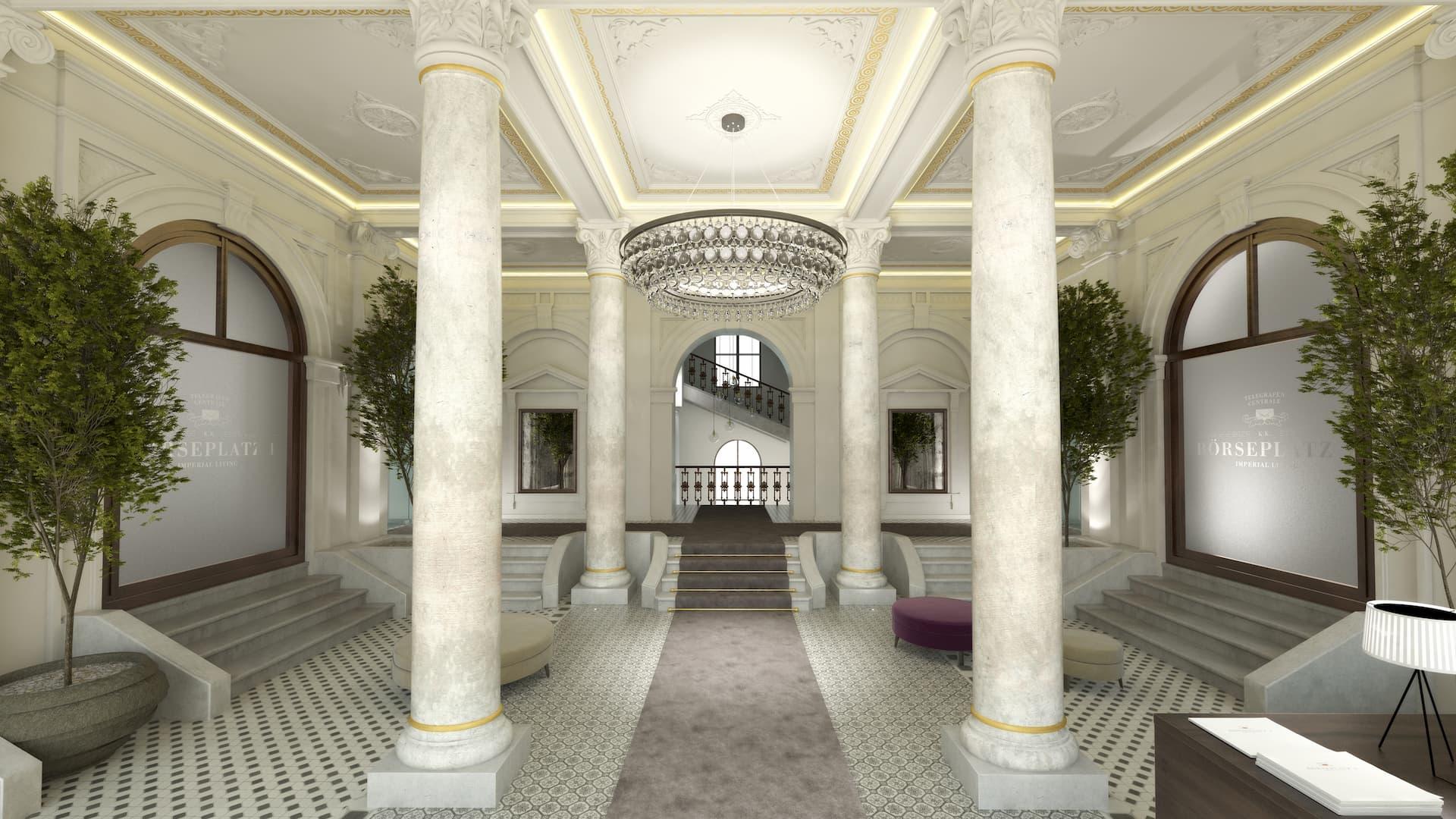 Innenansicht Börseplatz Foyer