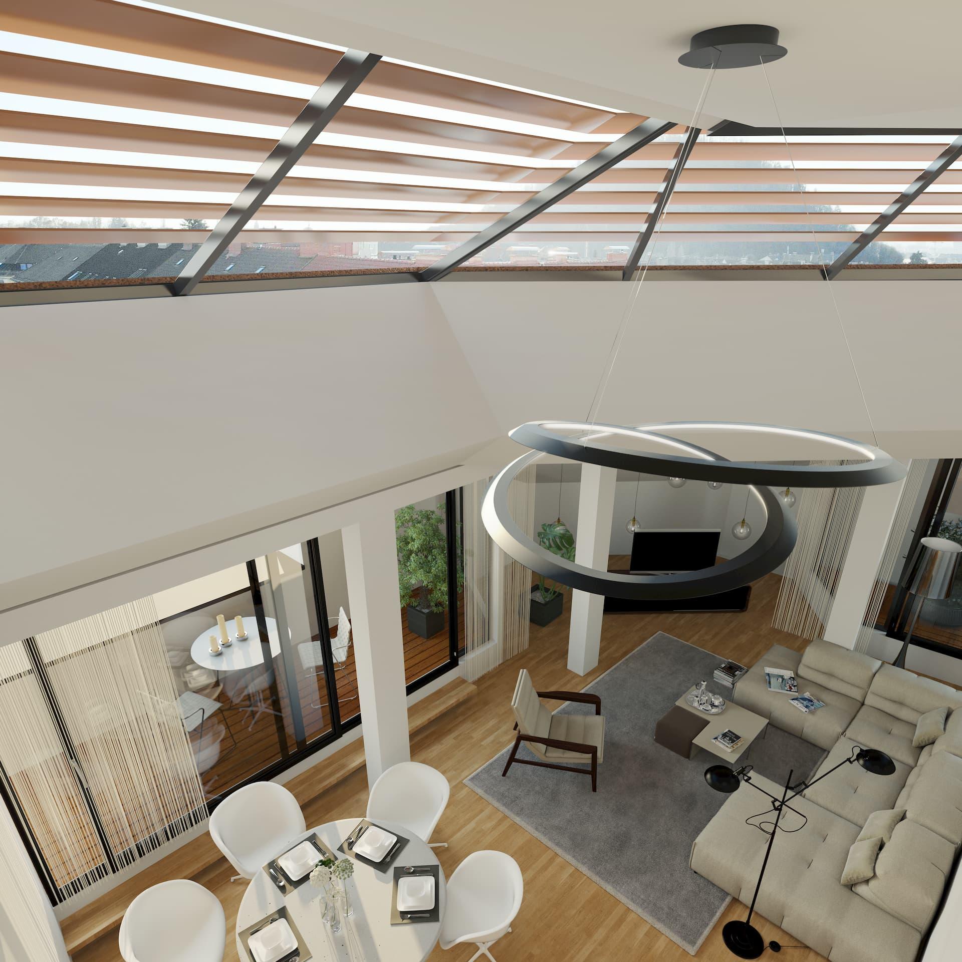 Innenansicht Dachbodenausbau Immola