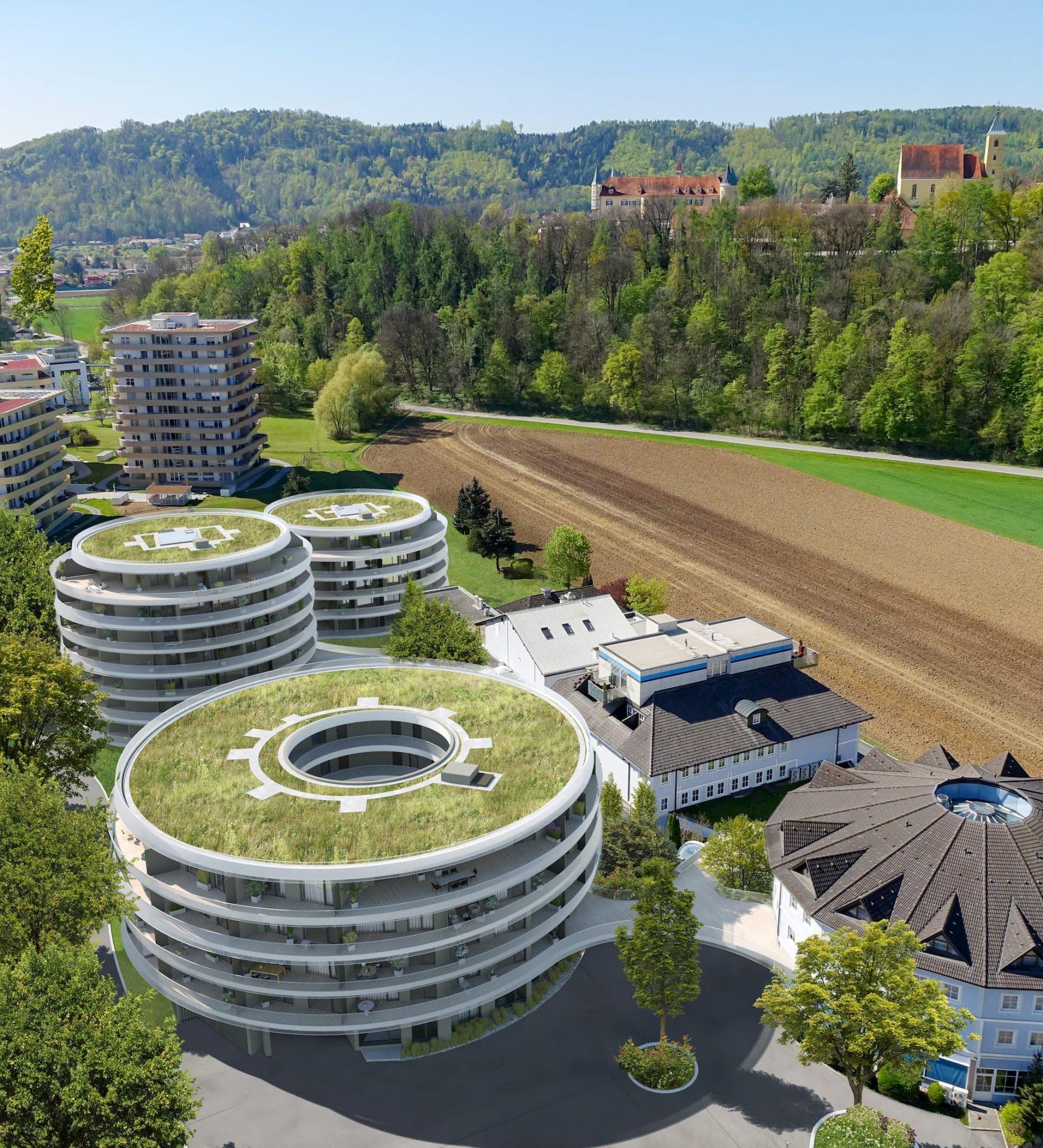 Drohnenansicht Bauherrenmodell Green Paradise IFA