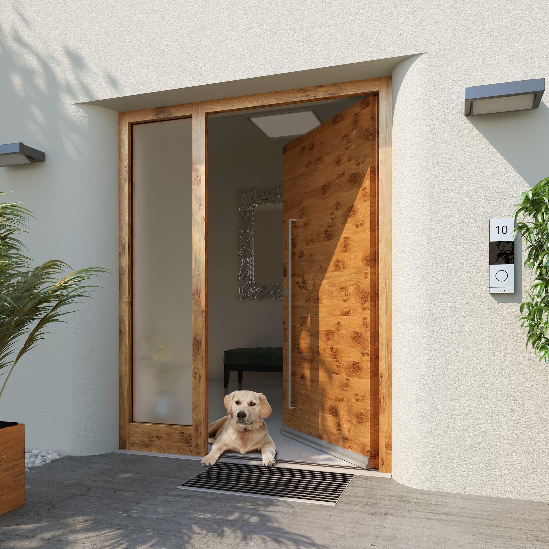barrierefreie Haustüre der Firma Gabana