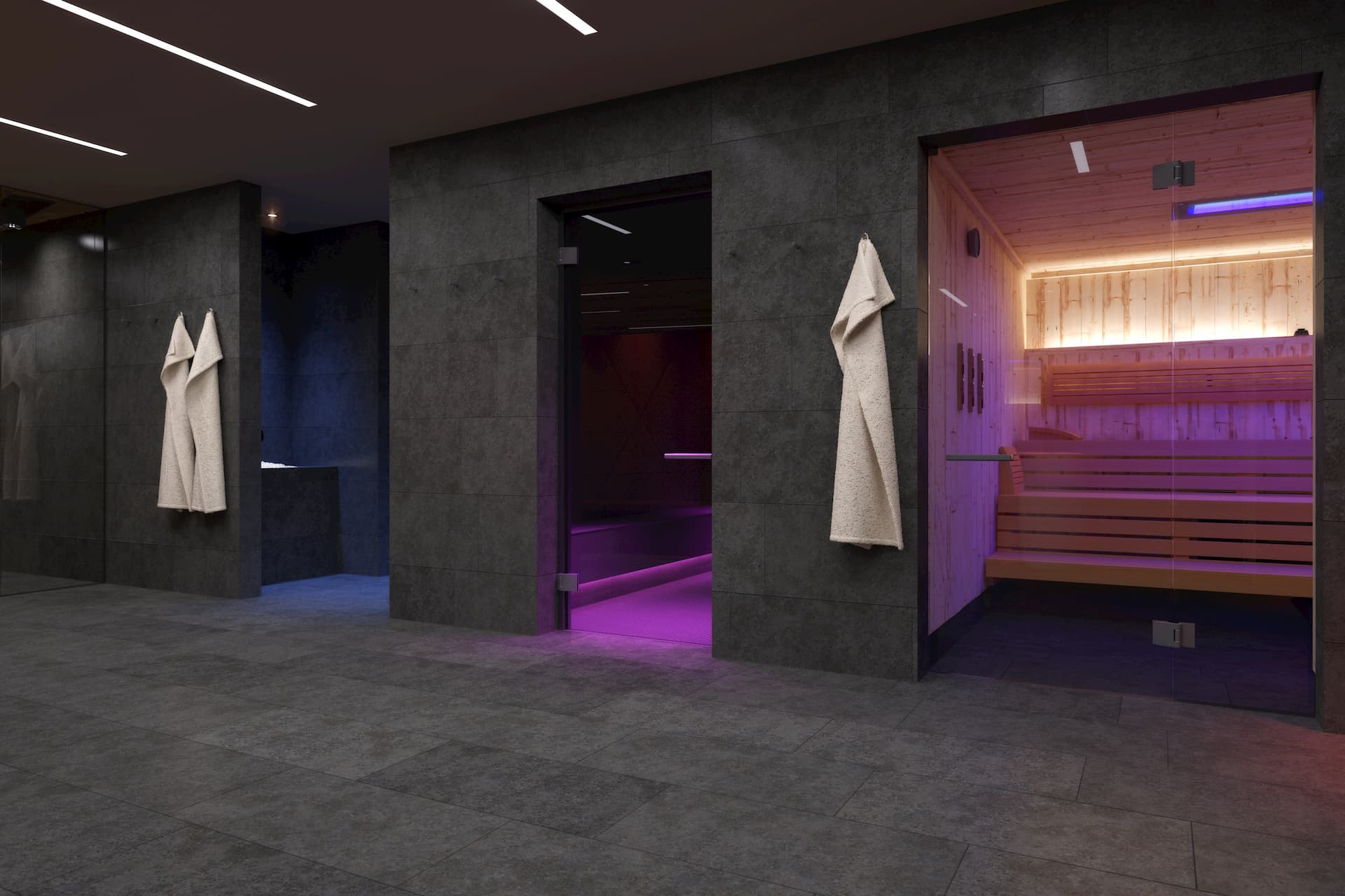 Ansicht Sauna Bereich Spa Hotel