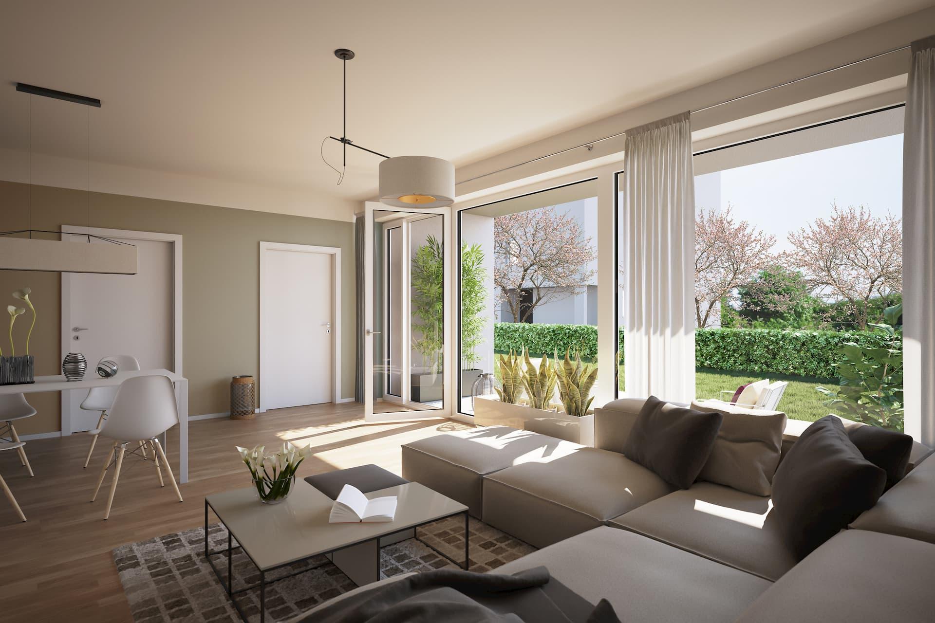 Wohn und Esszimmer in einem LIHA Haus