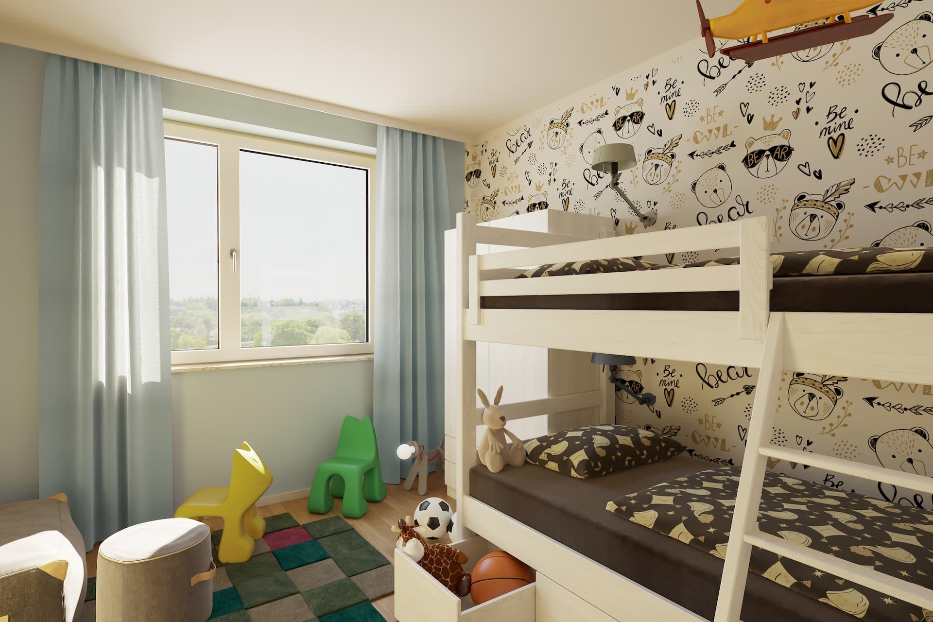 Kinderzimmer in einem LIHA Haus