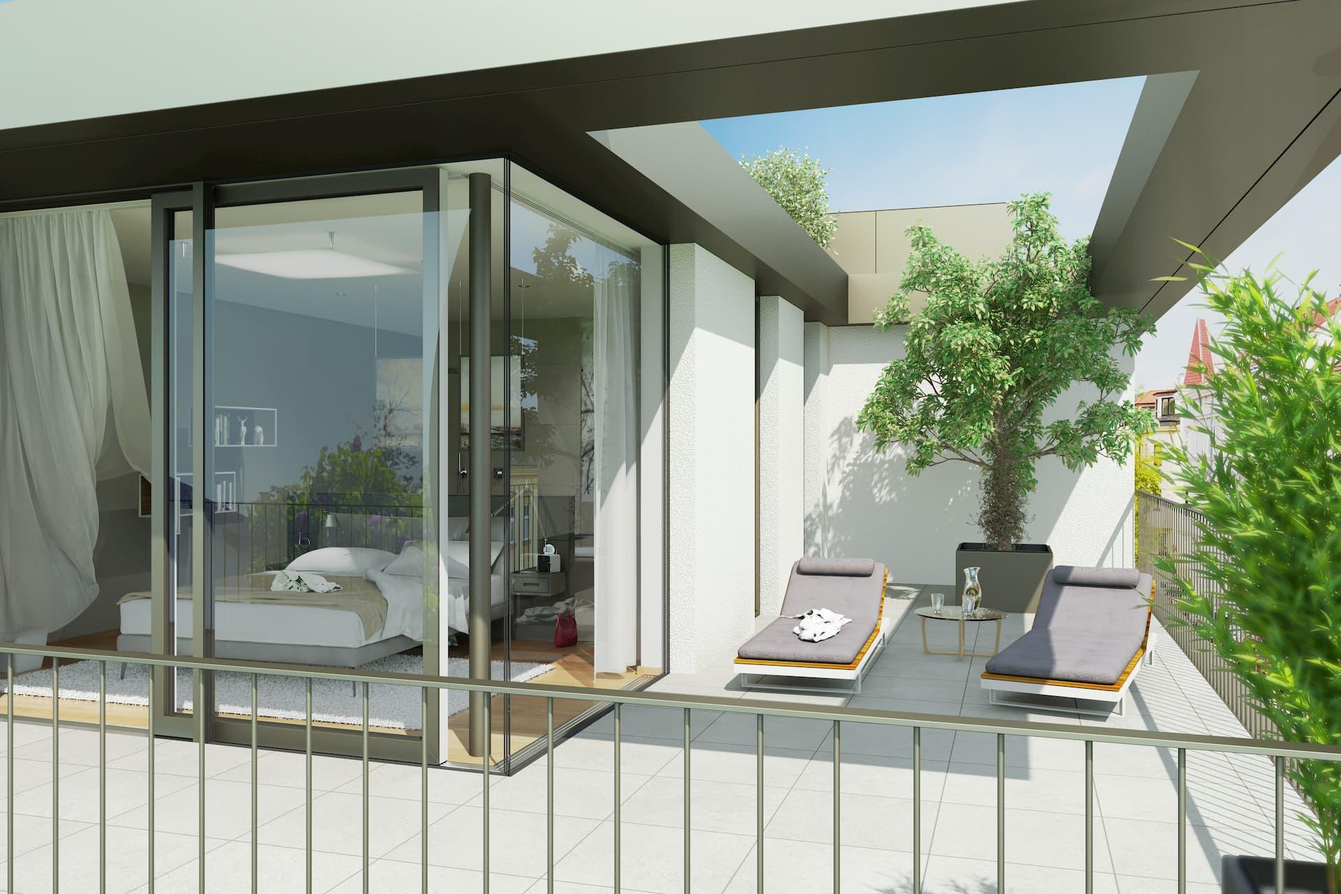 Terrasse Luxury Living Das Josef