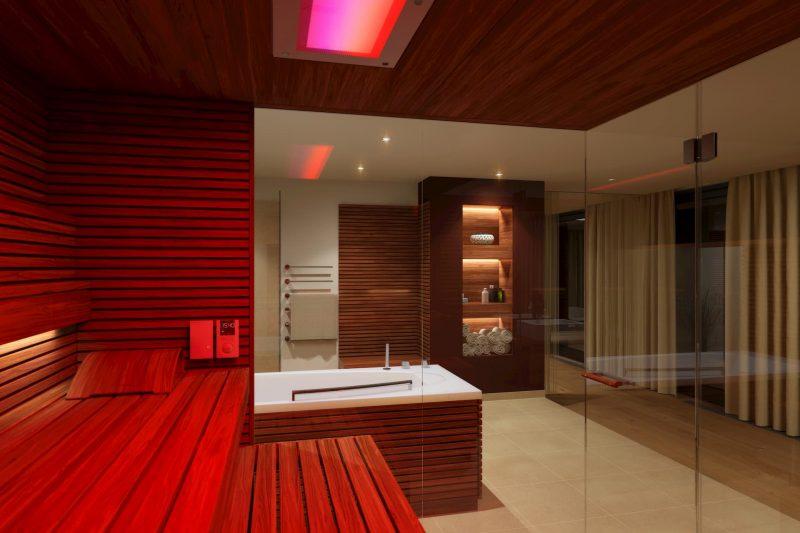 Bild: Sauna in Spa-Landschaft in einem Golfhotel