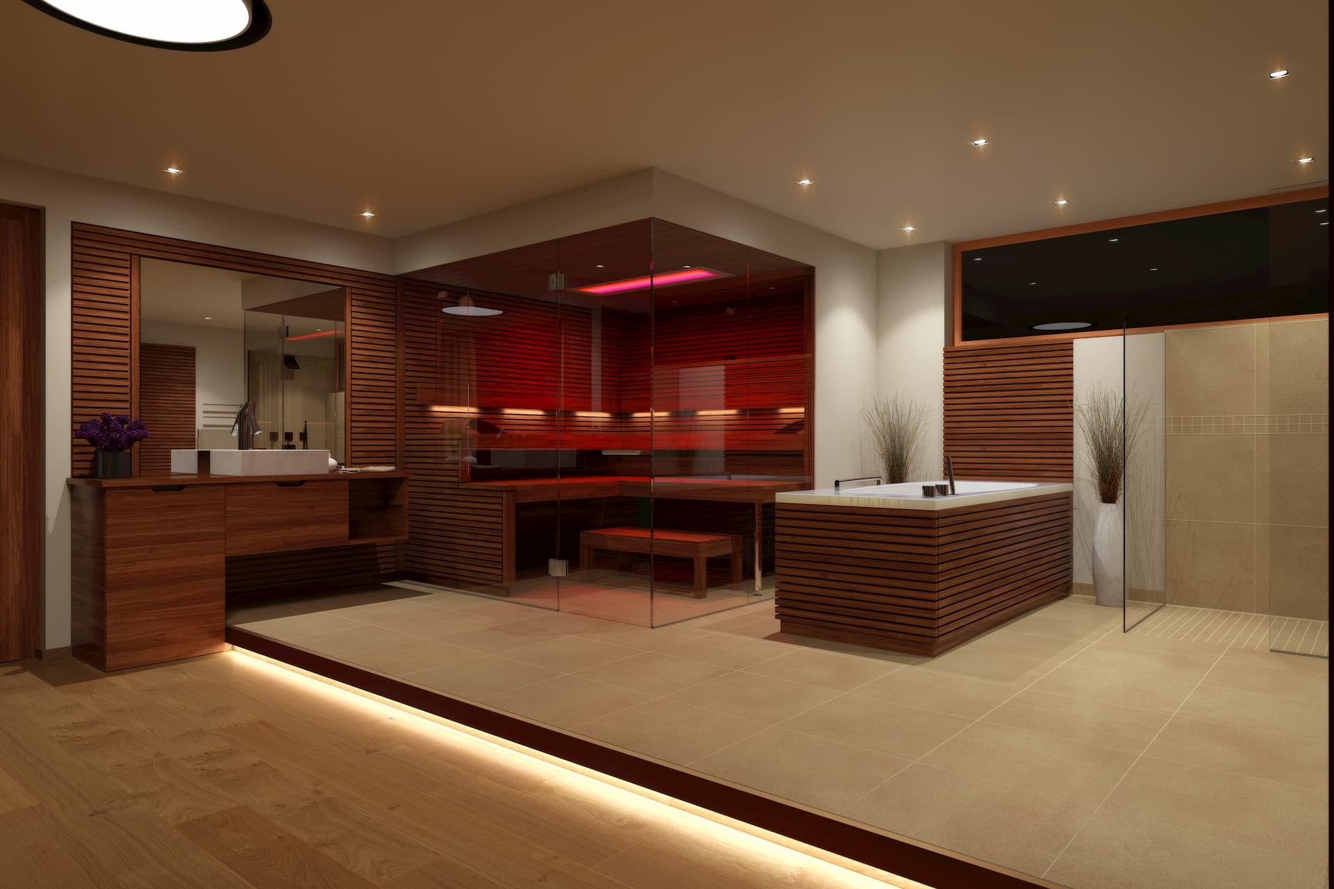 Saunabereich Spa-Landschaft in einem Golfhotel