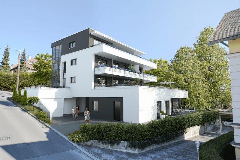 Bild: Aussenansicht des Wohnprojekts Kirschner