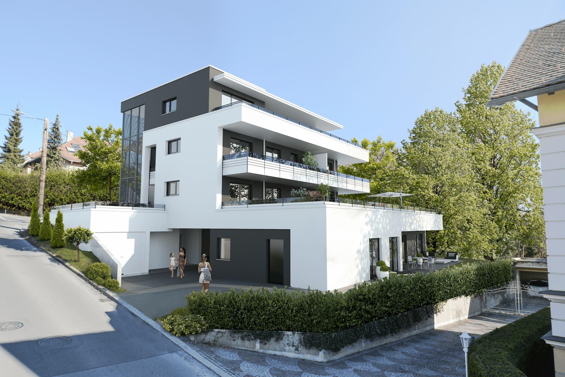 Aussenansicht des Wohnprojekts Kirschner